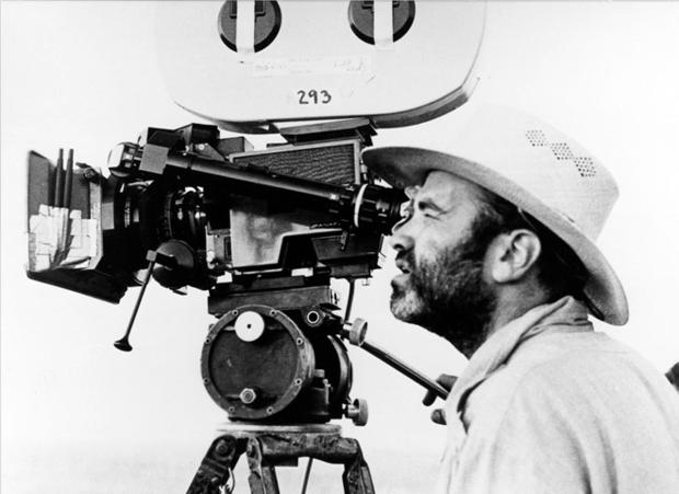 """Director Terrence Malick on the set of """"Days of Heaven"""""""
