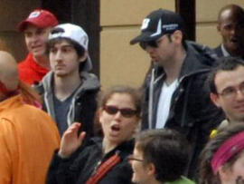 amerlan Tsarnaev, third from left, who was dubbed Suspect No. 1 and second from left, Dzhokhar A. Tsarnaev, who was dubbed Suspect No. 2 in the Boston Marathon bombings by law enforcement.