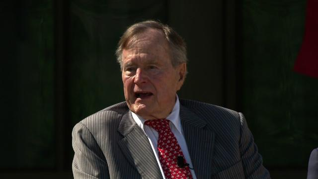 George H.W. Bush attends son's presidential library dedication