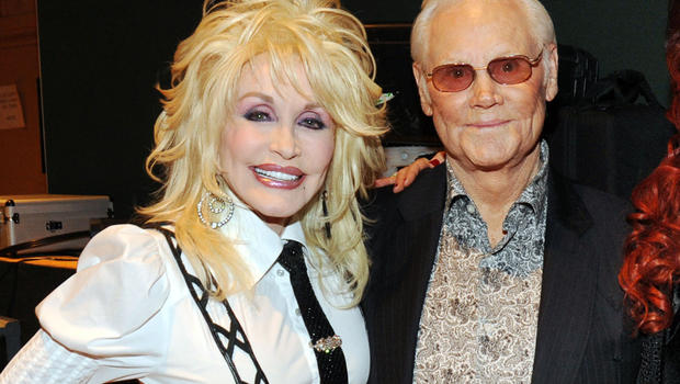 Stars remember country music giant george jones cbs news for What does dolly parton s husband do for a living