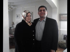 Ghassan Hitto with his wife, Suzanne.