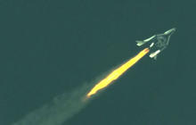 Virgin Galactic's private spaceship reaches supersonic speeds