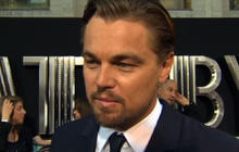 "DiCaprio talks ""Great Gatsby"" at world premiere"