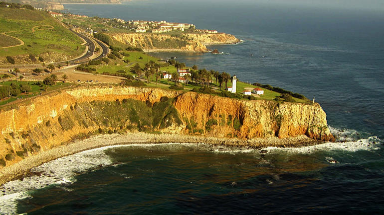 The cliffs in Rancho Palos Verdes, Calif., from which David Viens jumped.