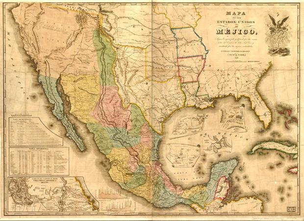 Americas Forgotten War South Of The Border CBS News - Map of the us before the mexican american war