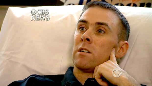 Officer Dick Donahue recounts the shootout with the Tsarnaev brothers from his hospital bed in Massachusetts.