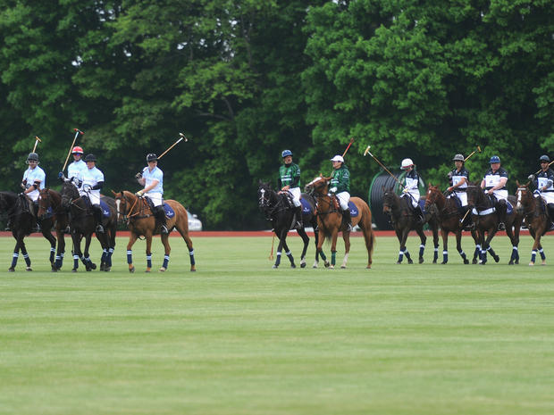 Prince Harry plays polo in Connecticut