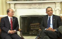 Obama hosts Burmese president at the White House