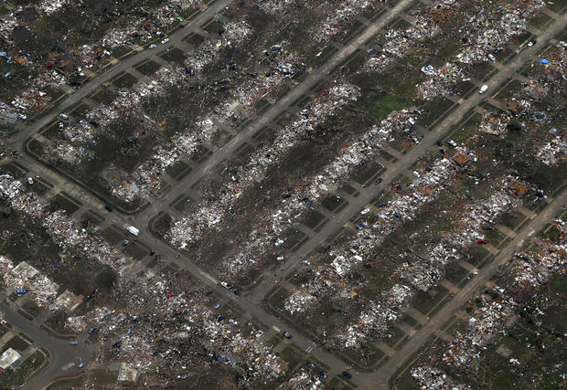 Tornado's destructive path