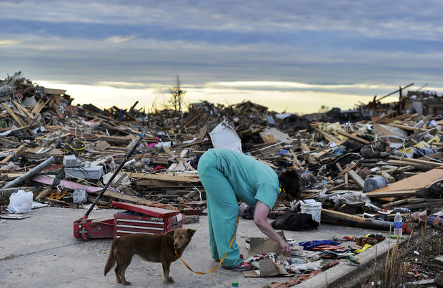 Clean-up efforts underway in Okla.