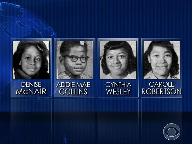The four girls killed in the Birmingham, Alabama, bombing.