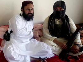 Taliban No. 2 commander Waliur Rehman talks to The Associated Press during an interview in Shawal area of South Waziristan along the Afghanistan border in Pakistan July 28, 2011.