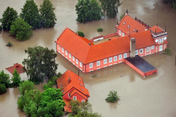 Europe under water