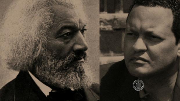 Frederick Douglass and his descendent, Ken Morris.