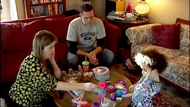 Matt and Melanie Capobianco with Veronica.