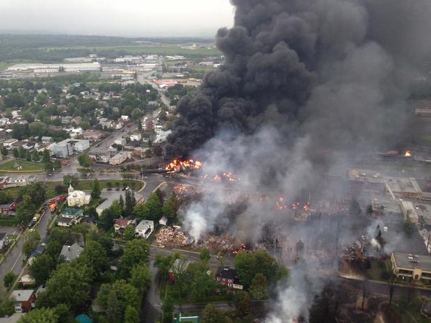 Train crash devastates Quebec town