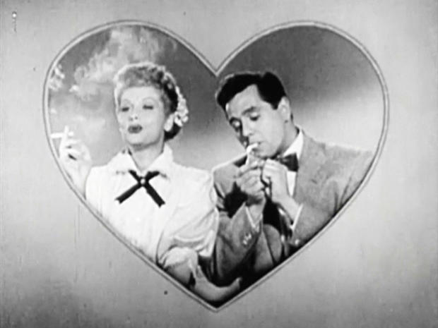 Ricky and Lucy breaking from the comedy to have their cigarette.