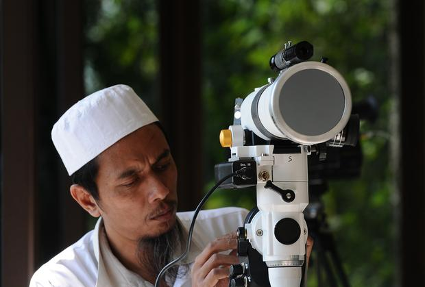 Moon watching in Indonesia