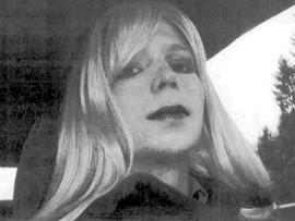 """Army Pfc. Bradley Manning poses for a picture wearing a wig and lipstick in this undated picture provided by the U.S. Army. Manning emailed his military therapist the picture with a letter titled, """"My problem,"""" in which he described his issues with gender identity and his hope that a military career would """"get rid of it."""""""