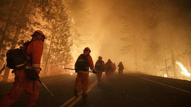Devastating wildfires rage in California