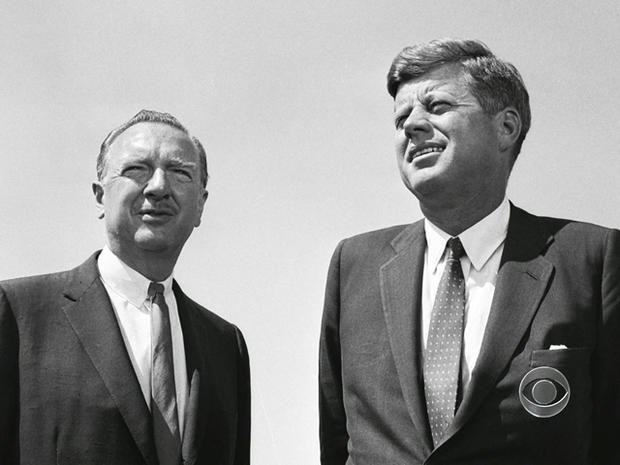 President Kennedy gave Walter Cronkite an exclusive interview for the debut broadcast.