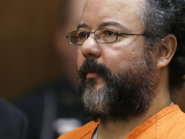 Aug. 1, 2013 file photo shows Ariel Castro in the courtroom during the sentencing phase of his trial in Cleveland. He was convicted of holding 3 women captive in his home and raping them over a decade.