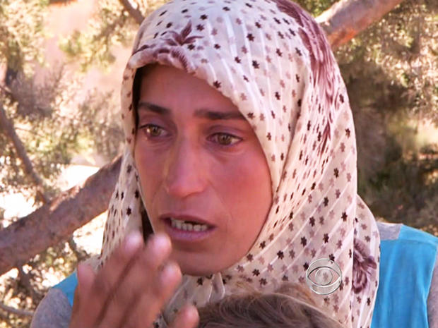 Iman fled Syria three weeks ago after her five-month-old daughter was killed.