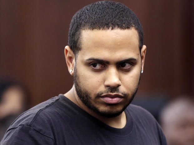 Christopher Cruz appears in criminal court in New York Oct. 2, 2013.