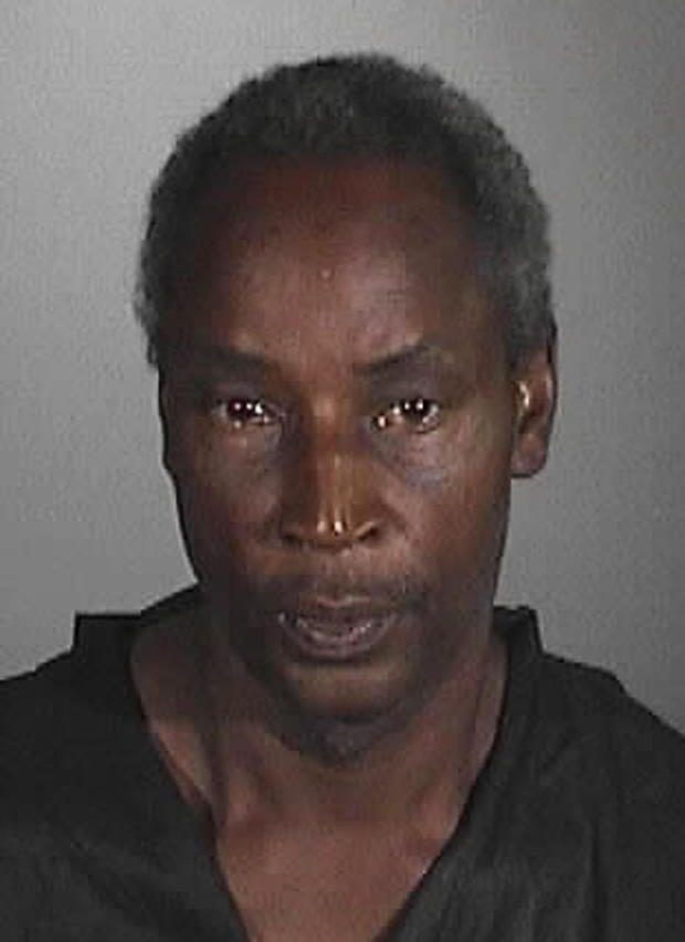 This undated image provided by the Long Beach Police Department shows Steven Brown, who was arrested for the stabbing of an elementary school teacher, Kellye Taylor, 53, who was watching her students play at a park in Long Beach, Calif.