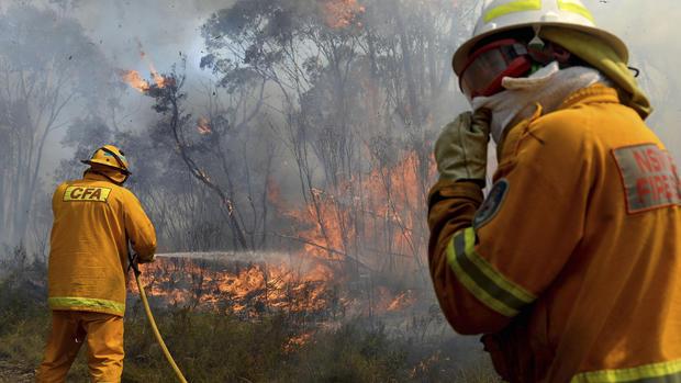Bush fires burning in Australia