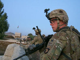 American soldiers provided cover for the Afghan troops.