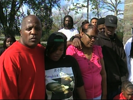 Supporters of the Johnson family held a rally, alleging there has been a cover-up in Kendrick's death.