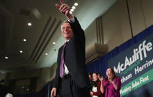 McAuliffe wins Va. governor's race, thanks supporters
