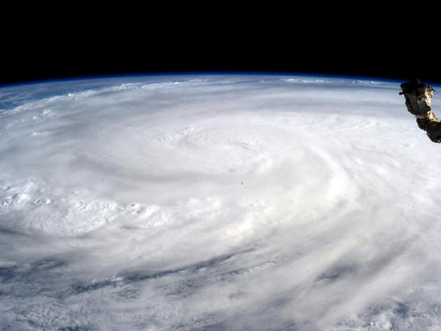 Typhoon Haiyan is seen in this image provided by NASA taken by Astronaut Karen L. Nyberg aboard the International Space Station Nov. 9, 2013.
