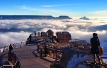 Grand Canyon fills with rare inversion clouds