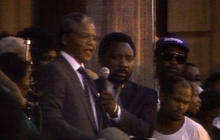 Mandela speaks after gaining freedom