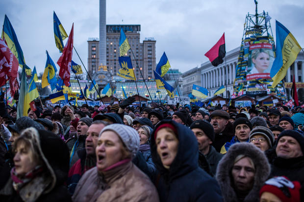 Kiev protests continue