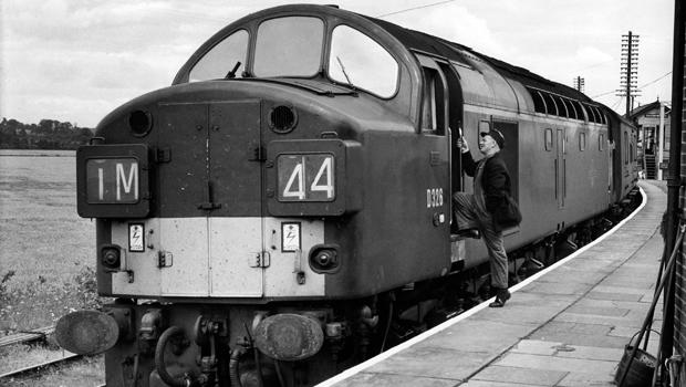 The Glasgow-London Royal Mail train that was attacked in the night by 15 armed robbers, including Ronnie Biggs, is seen Aug. 8, 1963, at Cheddington station, near Bridego Bridge, north of London.