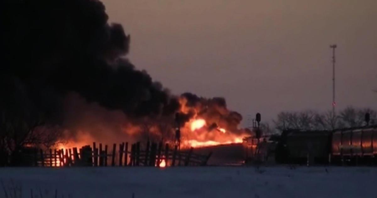 North Dakota train derailment causes toxic explosions - CBS News