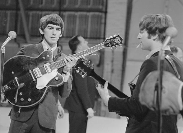 George Harrison And John Lennon The Beatles Backstage At The Ed Sullivan Show Cbs News