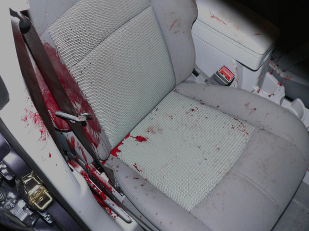 Because there was so much absorbed blood on the seat, Det. Wagner believed that Betty Schirmer was bleeding before she got in the car.