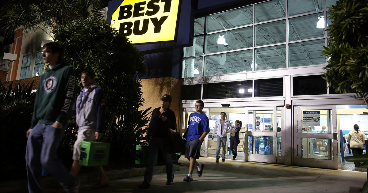 best buy shares dive on disappointing holiday sales cbs news. Black Bedroom Furniture Sets. Home Design Ideas