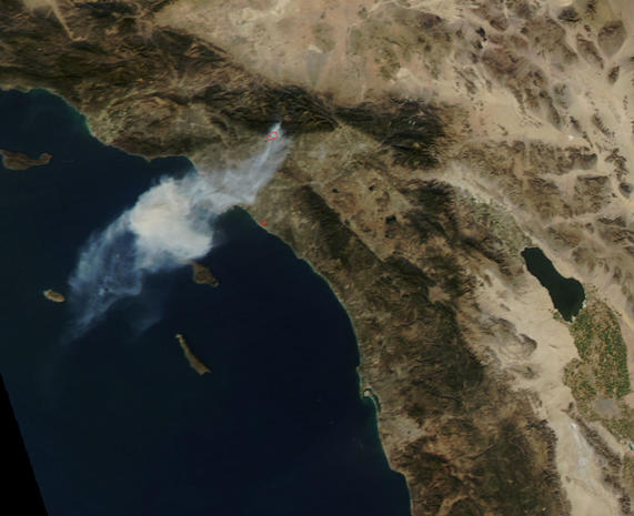 Wildfires burn through California
