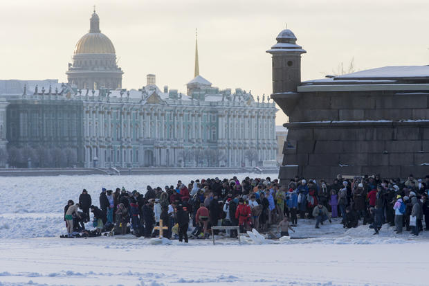 An icy plunge for Orthodox Christians