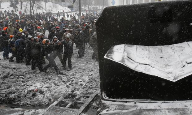 Ukrainian protests grow more violent