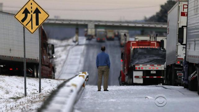 Road to nowhere: Minor snowstorm brings Atlanta to standstill - CBS News