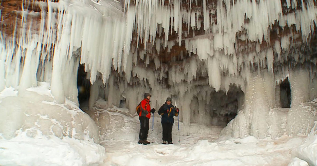 Hikers Make Rare Visit To Ice Caves Of Lake Superior CBS