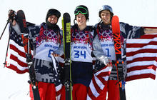 U.S. men dominate in Olympic slopestyle skiing sweep
