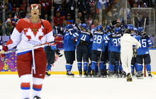 Finland eliminates Russia from Olympic men's hockey