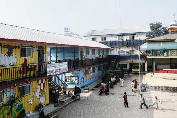 Going to school in shipping containers